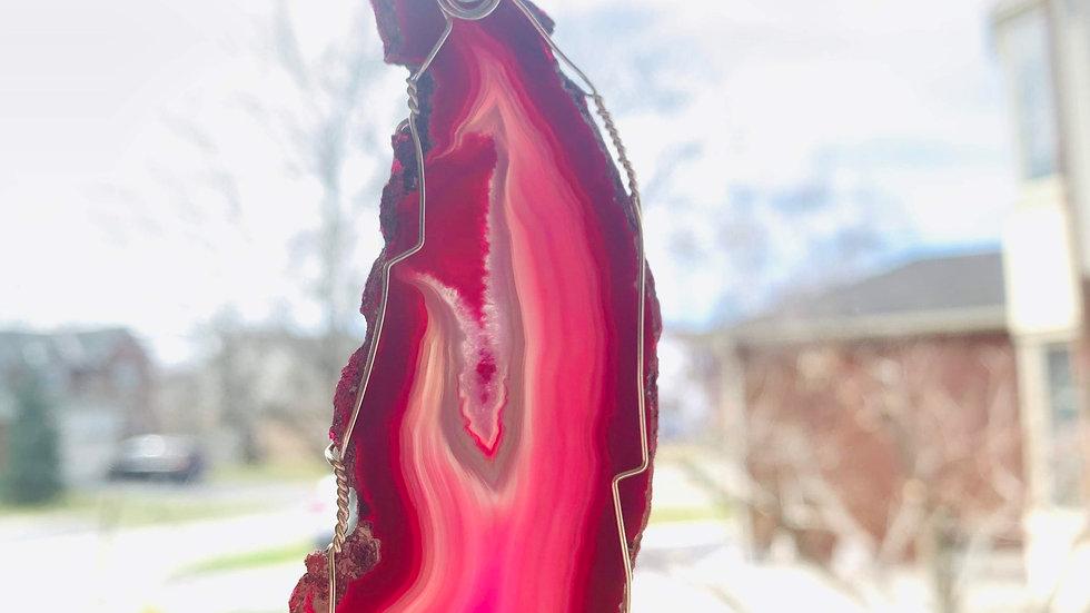 Pink Agate Sun Catcher #2