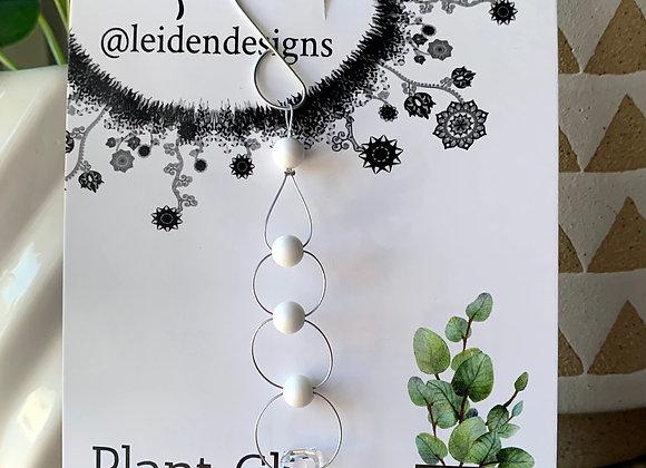 Plant Charm White Agate & Crystal no.15