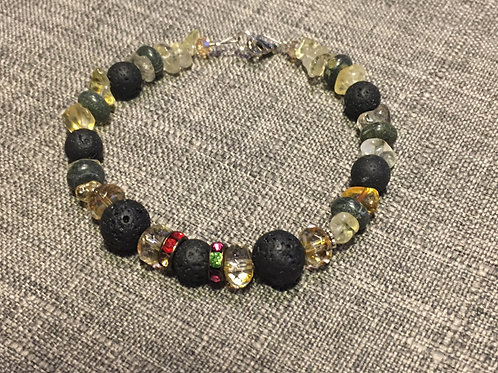 Guatemalan Jade, Citrine & Lava Beads