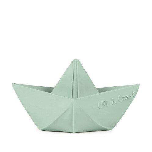 Origami Boat Mint | jouet en caoutchouc naturel