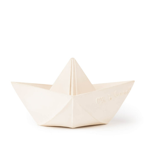 Origami Boat White | jouet en caoutchouc naturel