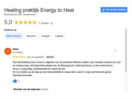 Eerste Google review
