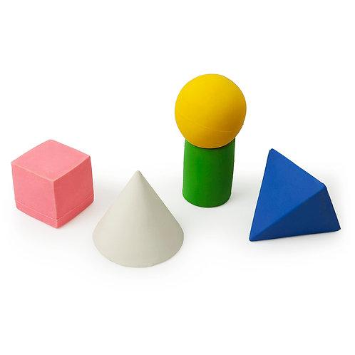 Geometric Figures Oli & Carol | jouet en caoutchouc naturel