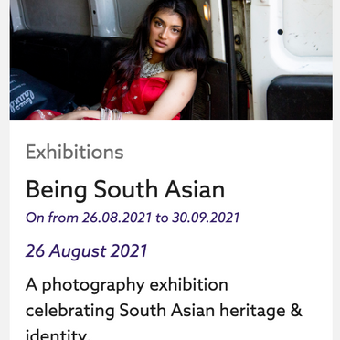 'Being South Asian' opens this week at Gunnersbury. Find out more here...