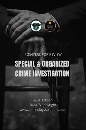 Special-Organized Crimes