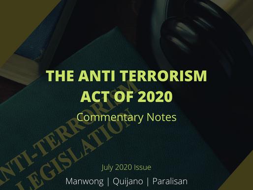 THE ANTI-TERRORISM ACT OF 2020