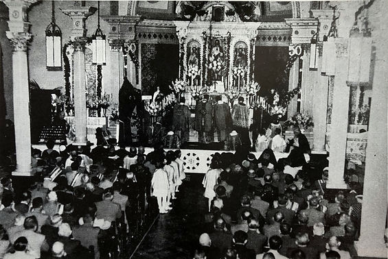 1955_Pontifical_High_Latin_Mass_Massachusetts_Sts._Peter_and_Paul_Church_Three_Rivers