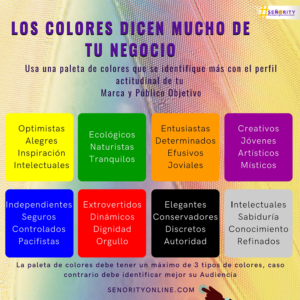 Que representan los colores en las marcas y las personas