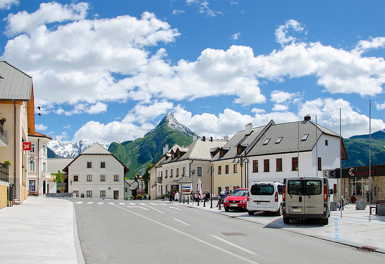 Bovec main square