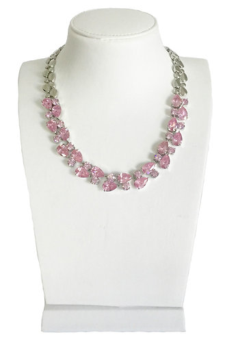 Luxury Pink Crystals Necklace