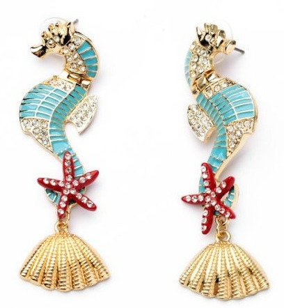 SeaHorse Earring Tourquise