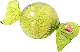Murano Glass Green Gold 24kt Candy