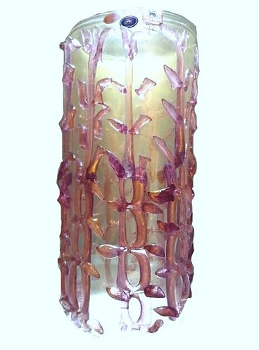 Masterpiece Murano Glass Pink Gold Tree Vase