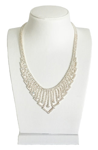 Luxury Full Crystals Statement Necklace