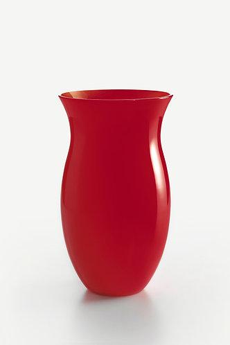 NM Murano Glass Red Vase