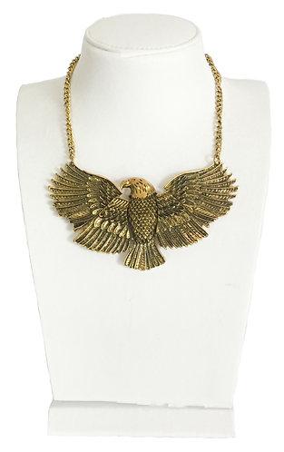 Gold Plated Eagle Vintage Statement Necklace