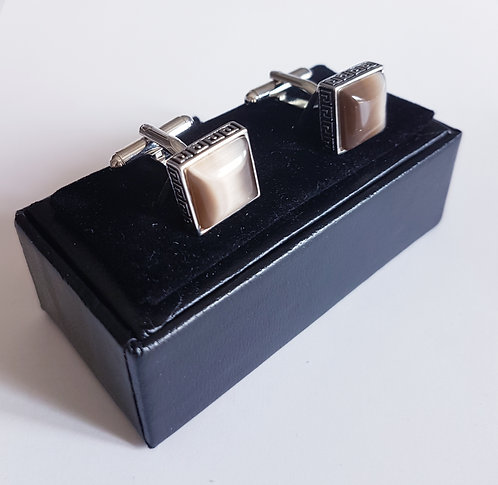 Cufflinks Opaline Square with Gift Velvet Box