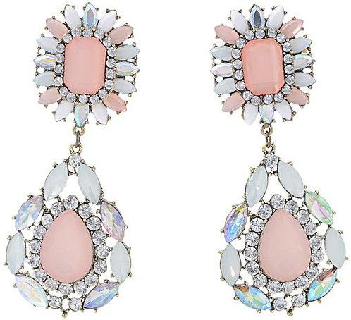 Drop Opal Pink Earrings