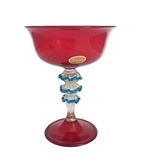 Murano Glass Venetian Red Bowl Cup Goblet