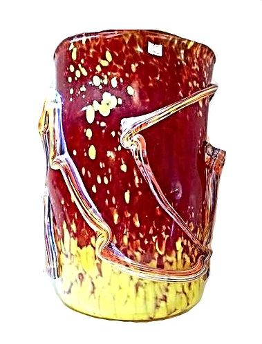 Artistic Venetian Glass Fire Vase