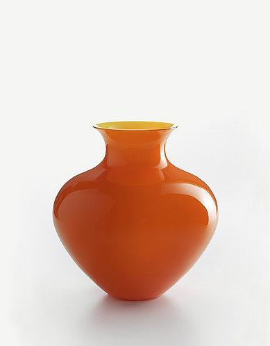 Murano Glass NM Oragne / Yellow Vase Design