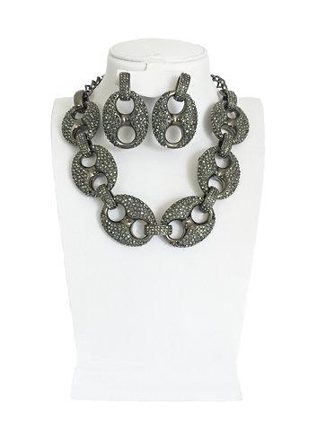 Full Crystals Elegant Jewelry Set …