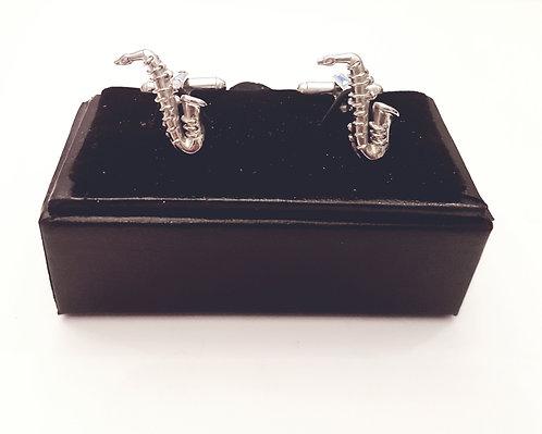 Cufflinks Saxophon with Gift Velvet Box