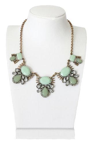 Trendy Vintage Enamel Crystal Pendant Necklace