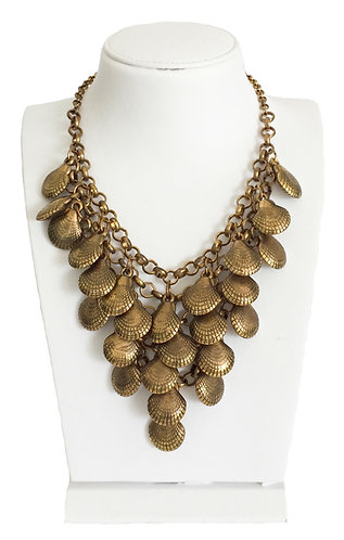 Gold Plated Vintage Seashell Necklace