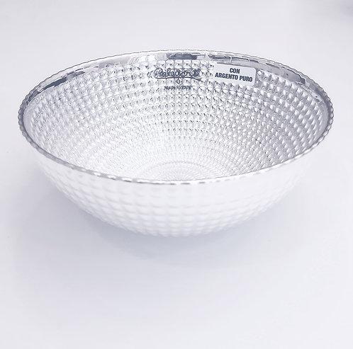 999 Pure Silver Bowl & Glass
