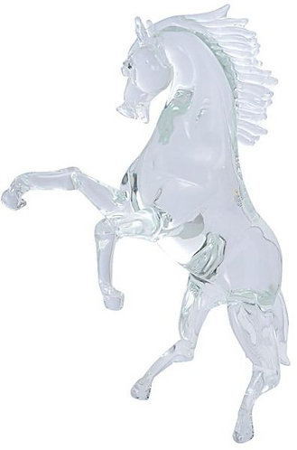 Crystal Standing Tall Horse Murano Glass