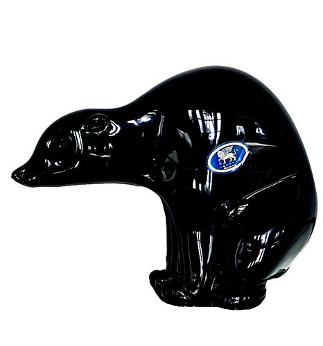 Murano Glass Black Bear