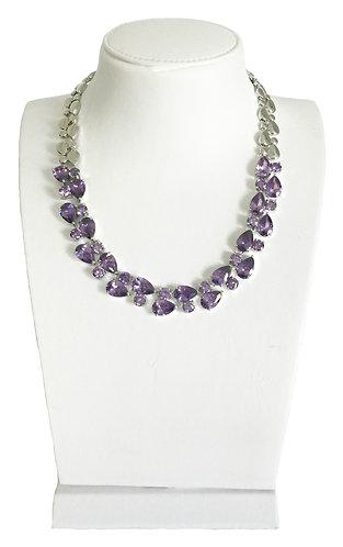 Luxury Violet Crystals Necklace