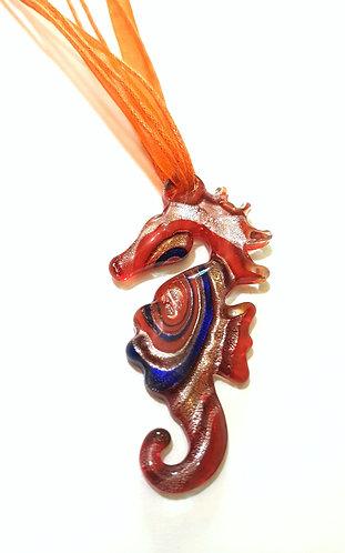 Hippocampus Seahorse Murano Glass Pendant