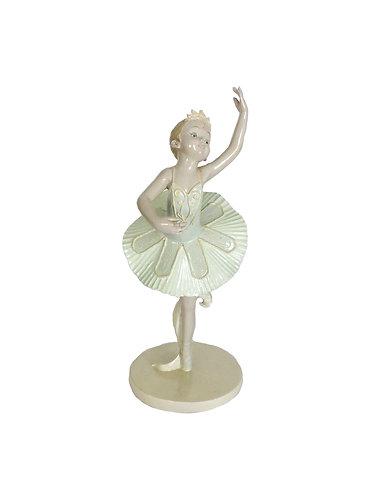 Elegant Ballerina Girl Ceramic Figurine