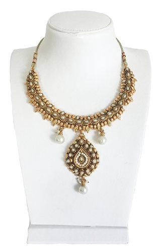 Ethnic Pearl Drop Vintage Necklace