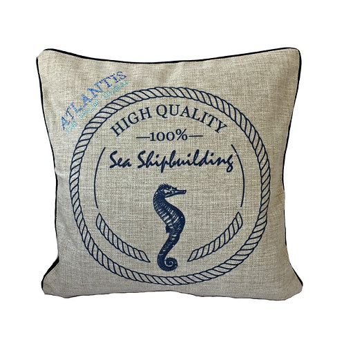 Seahorse Design Throw Pillow Cover