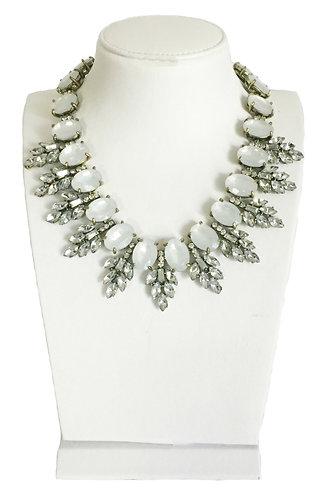 Luxury Opal Crystals Vintage Statement Necklace