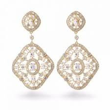 Elegant Earrings with Crystals