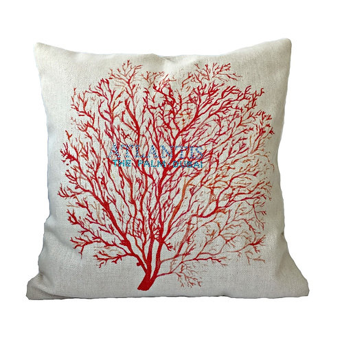 Red Sea Coral Throw Pillow Cover