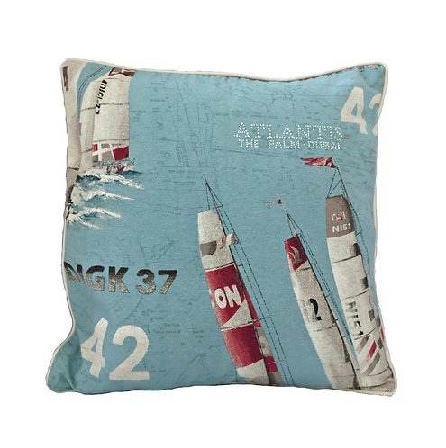 Sailing Boats Design Throw Pillow Cover