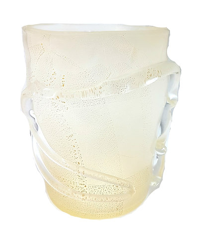 Blown by Mouth Statement Venetian Glass Vase
