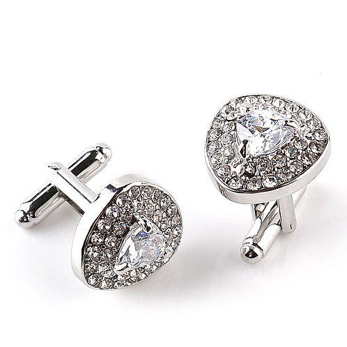 Imperial Crystal Cufflinks White with Box