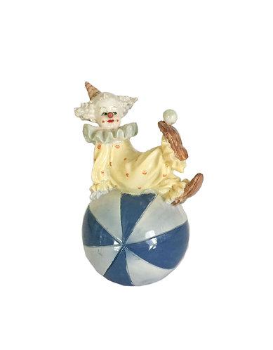 Cute Ceramic Clown in a Ball Figurine