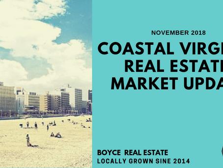 Coastal Virginia - Homes Sales Report - November 2018