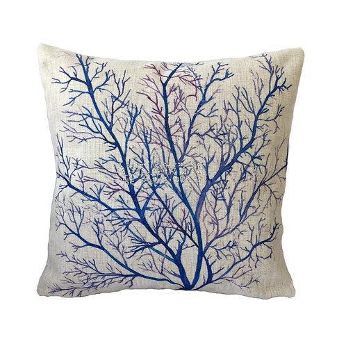 Sea Coral Design Throw Pillow Cover