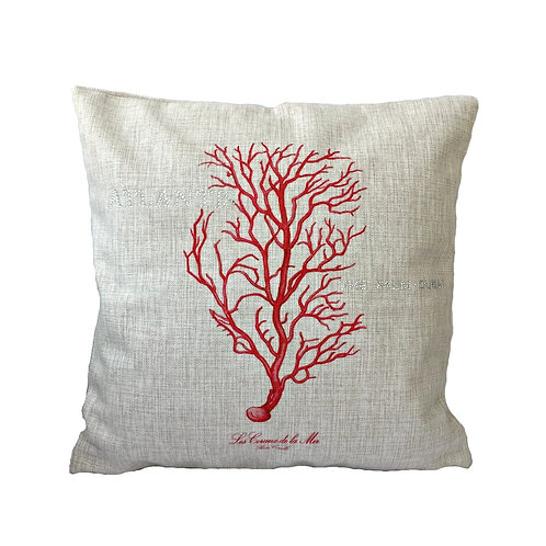 Sea Coral Design Throw Pillow Cover