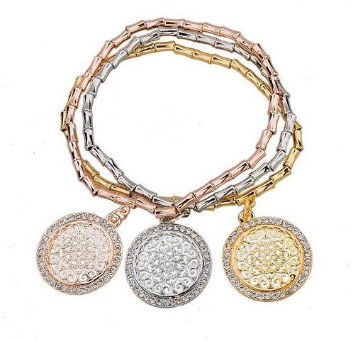 Tris Bracelets Gold Medal Charms