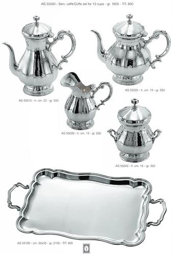SILVER TEA COFFEE SET VENICE