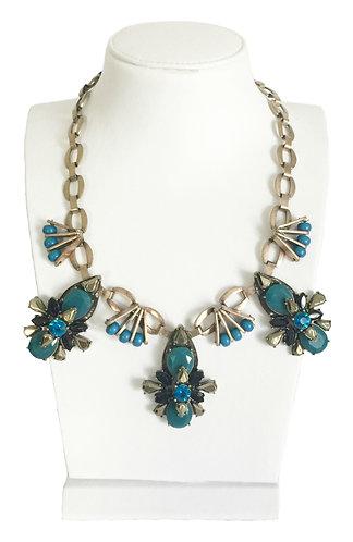 Crystal Enamel Vintage Necklace